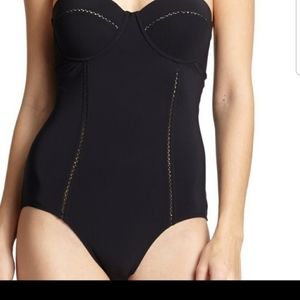 Tory Burch Black  One Piece Swimsuit S/P